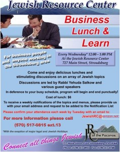 Business Lunch and learn