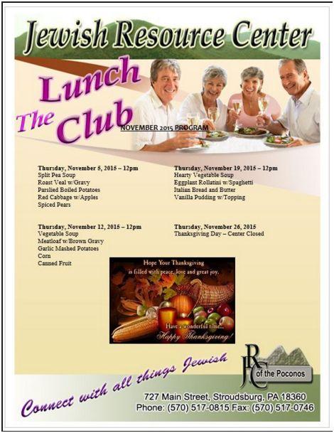 lunch club flyer Nov. 2015